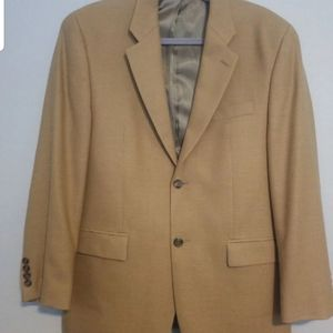 Tan suit coat